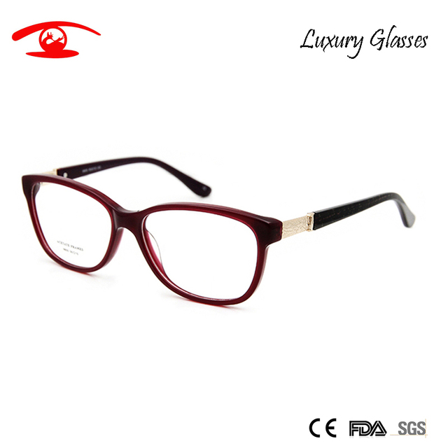 Rhinestones de lujo Diseñador de Las Mujeres Monturas de gafas de Alta Calidad gafas de Montura de Lente Transparente Gafas de grau feminino