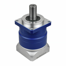 цена на high Precision Helical planetary gear reducer 3 arcmin Ratio 3:1 to 10:1 for 60mm 200w 400w AC servo motor input shaft 14mm