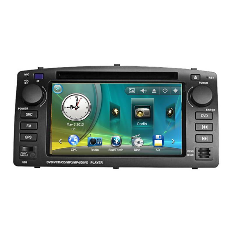 7 Car DVD player with GPS(optional),audio Radio stereo,USB/SD,AUX,BT/TV,car multimedia headunit for BYD F3 Toyota Corolla E120