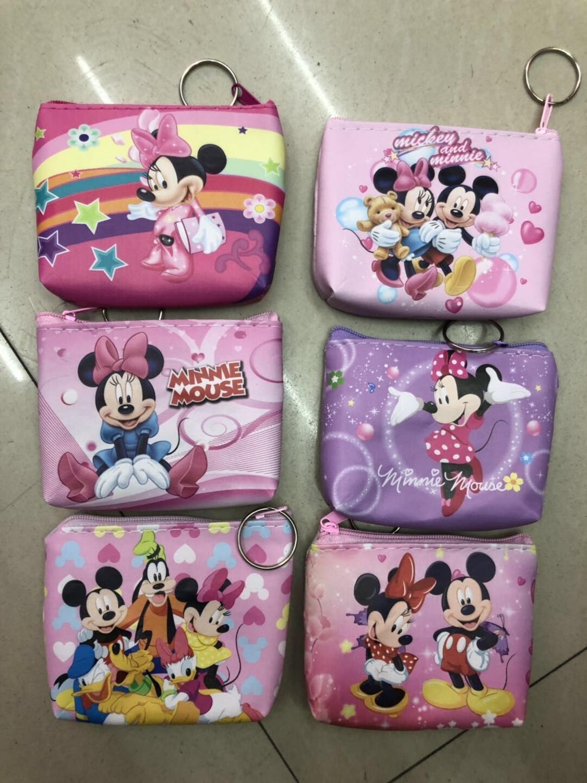 Disney New Coin Purse Fresh Mini Change Storage Bag Creative Cartoon Mickey Mouse Minnie Key Case Ladies Wallet TSUM