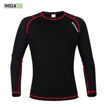 WOSAWE Men's Winter Warm Fleece Base Layer Sports Underwear Riding Cycling Undershirt Long Sleeve Jersey