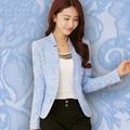 Plus size 2016 Fashion Women Jacket coat small Long sleeve temperament Slim female lace blazer feminino Plus size outerwear