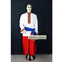 Custom Man Russia National Costumes,Folk Dance Jacket And Pants For Male Suits For Adult or Children Free Shipping
