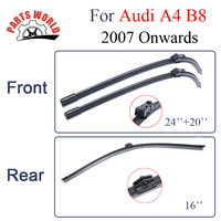 Combo Silicone Rubber Front And Rear Wiper Blades For Audi A4 B8 2007 Onwards Windscreen Wipers