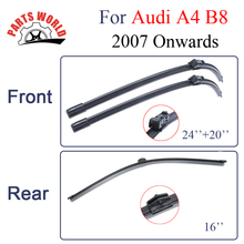 Combo Silicone Rubber Front And Rear Wiper Blades For Audi A4 B8 2007 Onwards,Windscreen Wipers Car Accessories