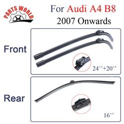 Combo guma przedniej i tylna wycieraczka dla Audi A4 B8 2007 roku  samochodowe akcesoria