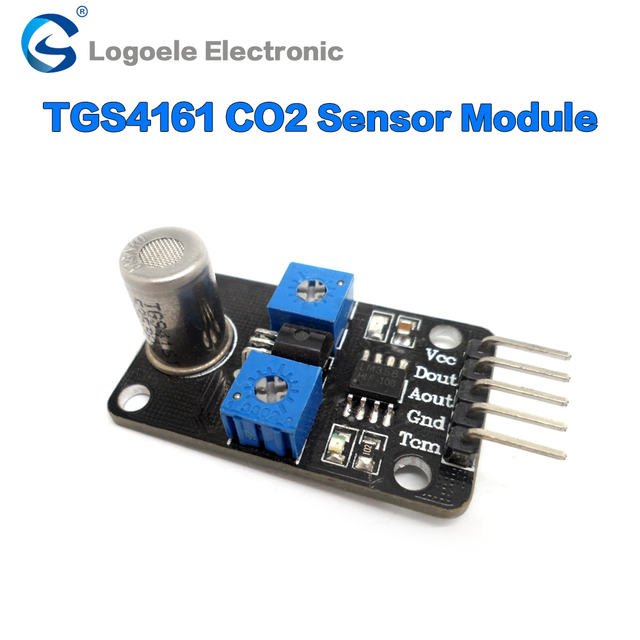 Analog signal 0-2v range and level signal output   CO2 carbon dioxide sensor module TGS4161 voltage probe