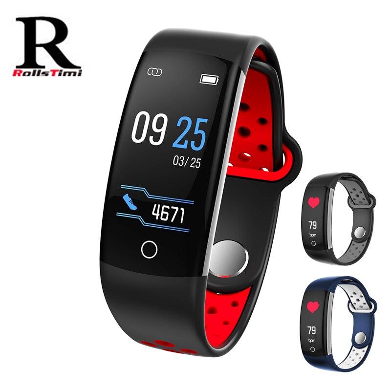 Reloj inteligente RollsTime Swim con Monitor de ritmo cardíaco deportivo rastreador de Fitness impermeable reloj inteligente pulsera para Android iphone