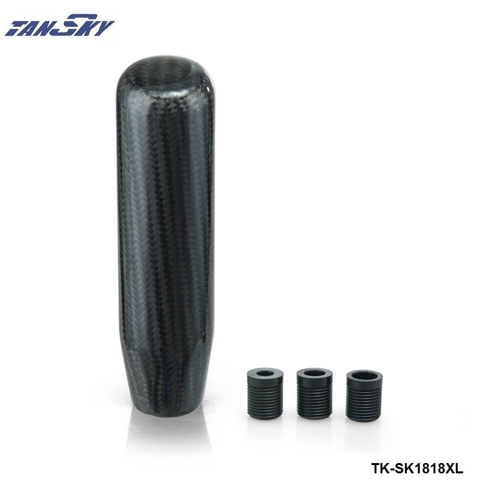 130mm Real Kohlefaser Aluminiumlegierung Lange Schwarz Universal benutzerdefinierte schaltknäufe/Automatische Für Ford Nova 71-73 TK-SK1818XL