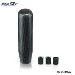 130mm prawdziwe CarbonFiber stopu Aluminium długie czarne uniwersalne niestandardowe gałki zmiany biegów/automatyczne dla Ford Nova 71 73 TK SK1818XL Gałki zmiany biegów Samochody i motocykle -