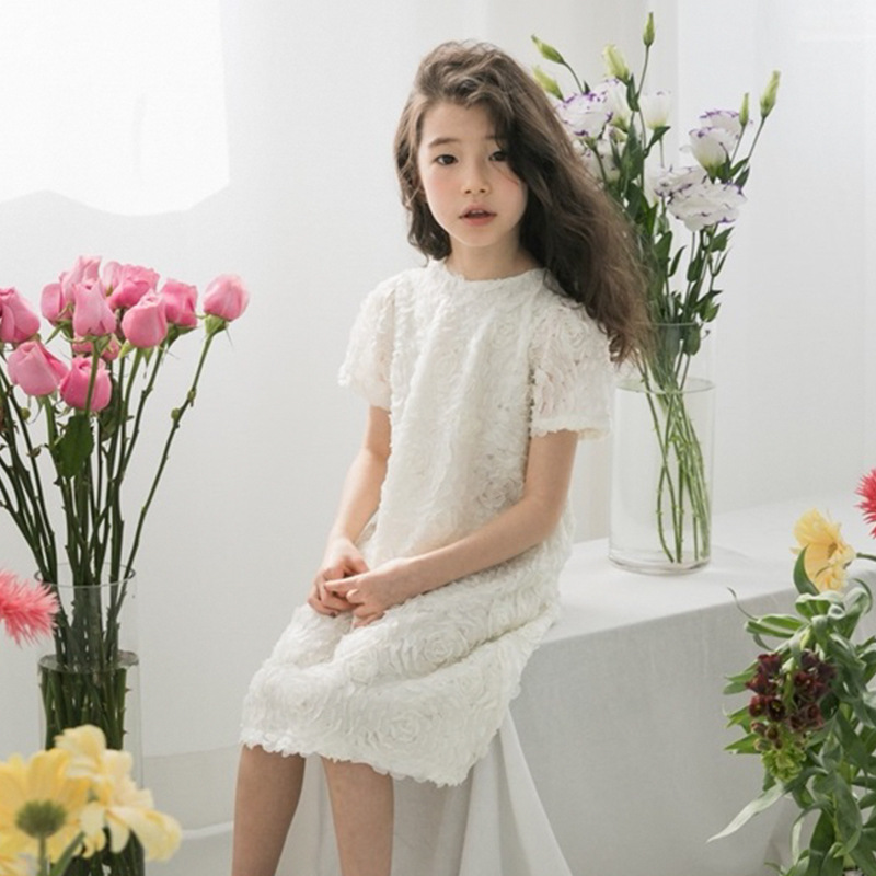lace toddler girls summer dresses 2018 hollow out white wedding party teenage dresses for girls 10 6 7 14 4 12 years clothing white lace hollow out deep v neck party dresses