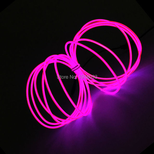 dc 3v 3meter 2 3mm pink neon light neon led lamp flexible el wire