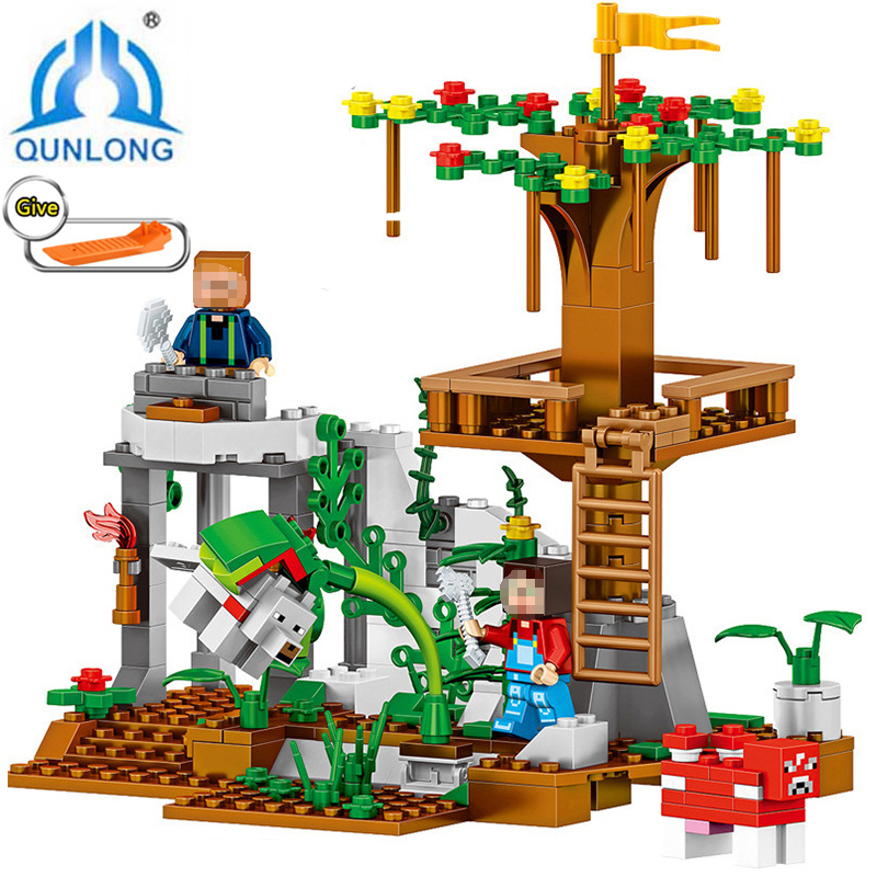 Qunlong Classic Forest  Building Blocks  Compatible LegoeINGly City Action Figures bricks Educational toys for children girl Boy lepin city town city square building blocks sets bricks kids model kids toys for children marvel compatible legoe