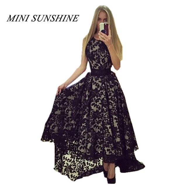 9ff1cad8897a3 2018 Maxi Summer Women Dress Sleeveless Irregular designs Sexy Black White  Lace Dress Slim fit Vestidos Elegant Long Party z15