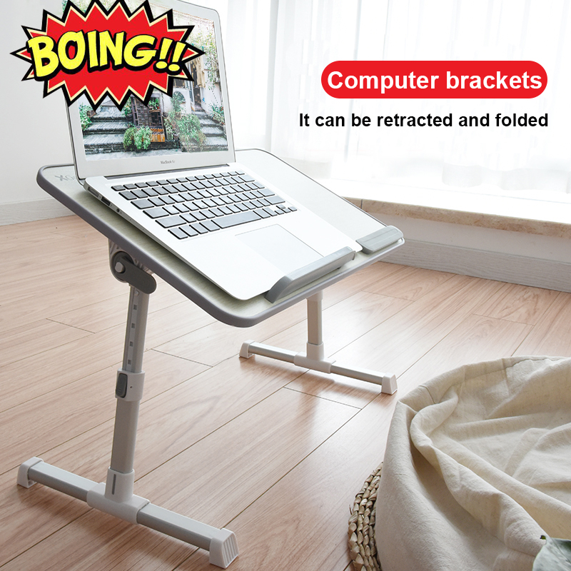 Foldable Computer Table Adjustable Portable Laptop Desk Rotate Laptop Bed Table Can Be Lifted Standing Desk 52*30CM