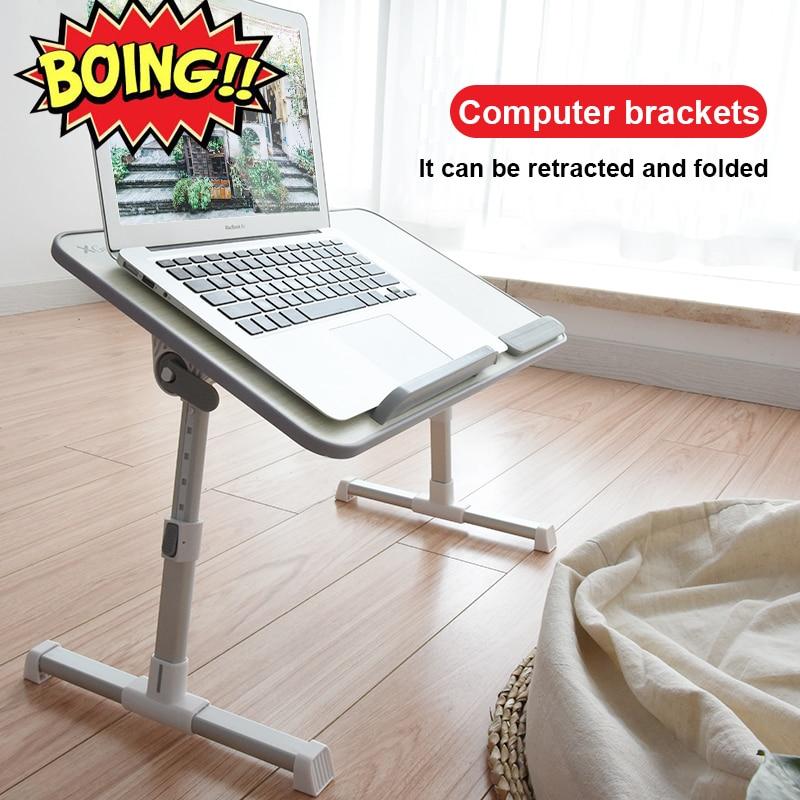 Table d'ordinateur pliable réglable ordinateur portable bureau rotation ordinateur portable Table de lit peut être levé bureau debout 52*30CM