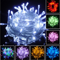 10 Meters 100 Lights Christmas Tree LED Colorful Lights Gifts For The New Year Arbol De