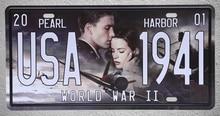 1 pc Pearl harbor Movie world war 2 plane love film Tin Plates Signs plate wall man cave Decoration Metal Art Vintage Poster стоимость