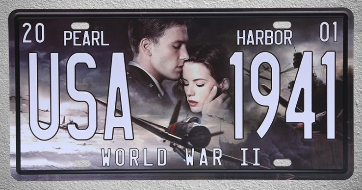 1 pc Pearl harbor Movie world war 2 plane love film Tin Plates Signs plate wall man cave Decoration Metal Art Vintage Poster image