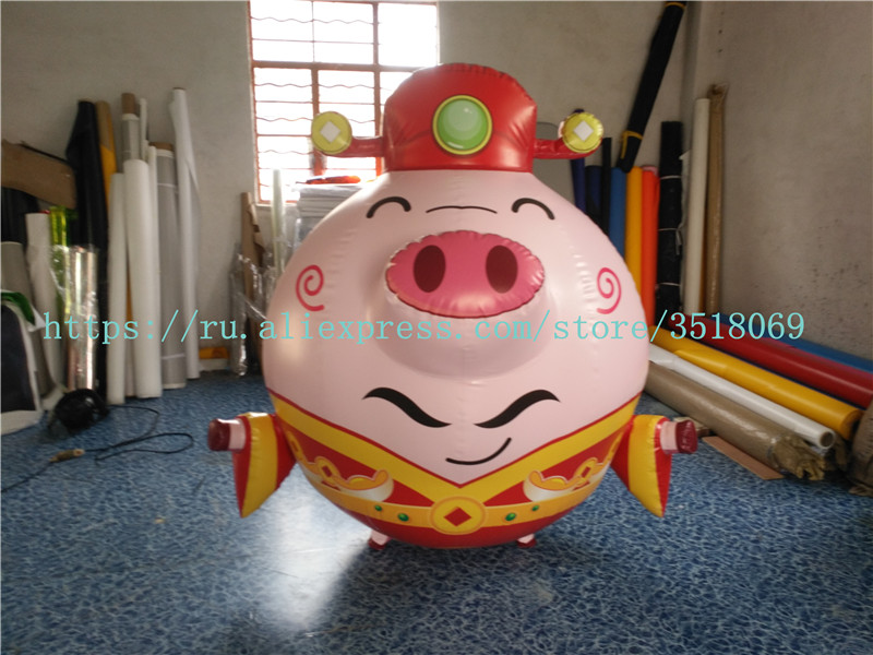 Sell Cute PVC Inflatable Pig, Inflatable Closed Air Pig Model, Used For Large Shopping Mall Exhibition