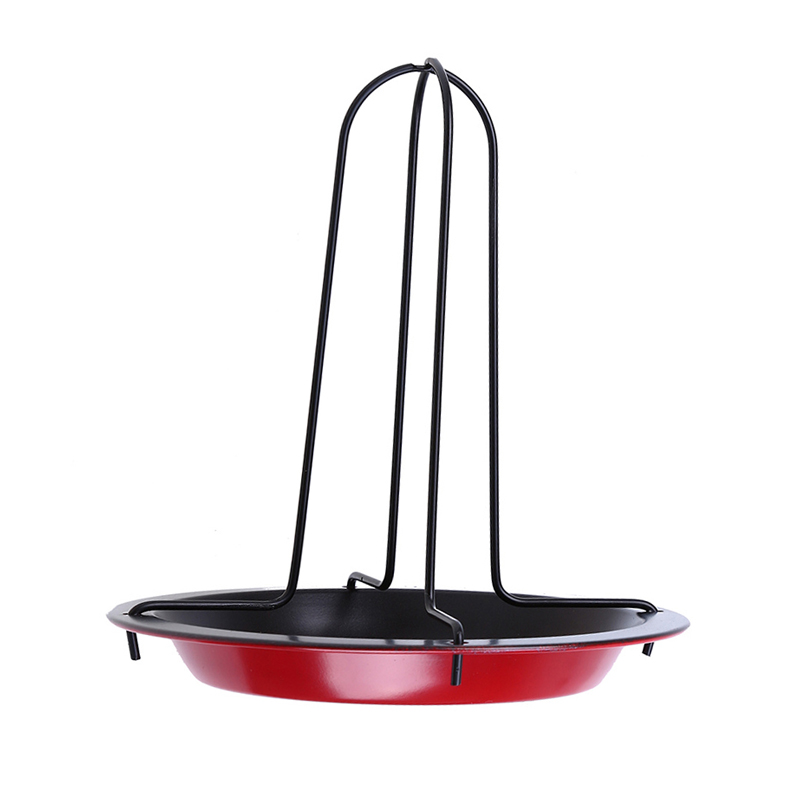 WHISM New Carbon Steel Upright Chicken Roaster Rack With Bowl Tin Non Stick Cooking Tool Barbecue Fork Bake Pan BBQ Tools