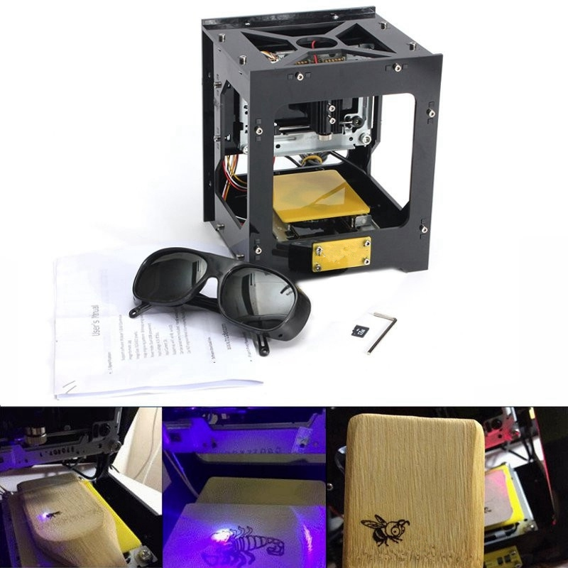 New Mini 300mW Cnc Crouter Cnc Laser Cutter Print Laser Engraver DIY Cnc Engraving Machine High Speed With Protective Glasses