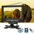 7inch 720P TFT LCD LED Color Analog Small Portable TV with Wide View Angle Support SD/MMC Card USB Flash Disk Outdoor