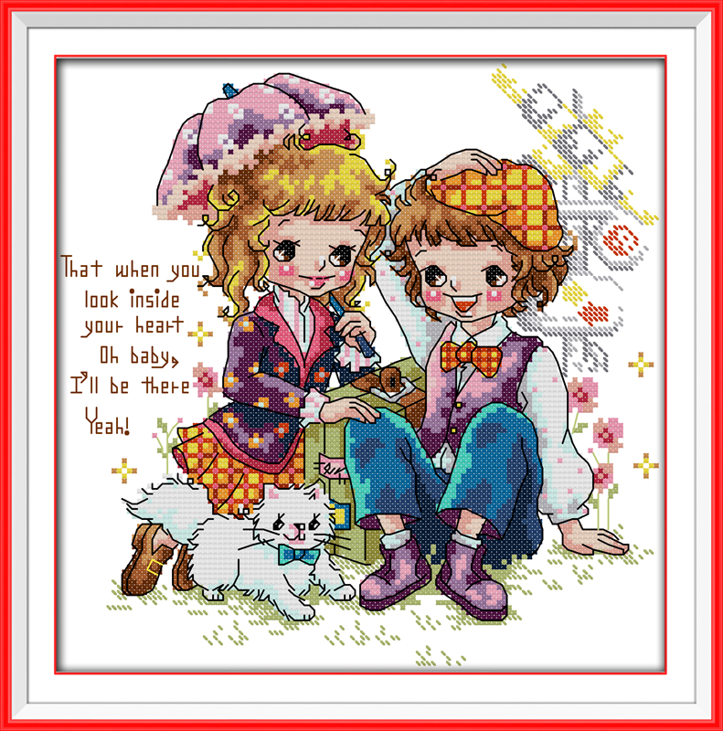 Happy trip, counted printed on fabric DMC 14CT 11CT Cross Stitch kits,embroidery needlework Sets, Home Decor