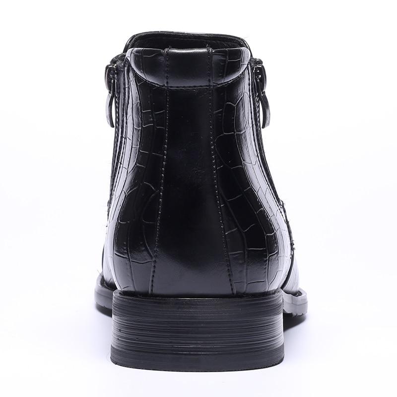 Couro Masculino Botas Marca Bzbfsky39 Hecrafted Top 48 De Homens Bonito Quality Black Retro Outono Confortável 4OBqxwPH