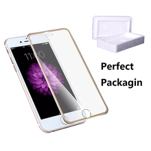 Front Screen Protector Film for iPhone 7 6 6s 5 5s 5se Tempered Glass Full Cover 3D Curved Edge Titanium Film Full Coverage