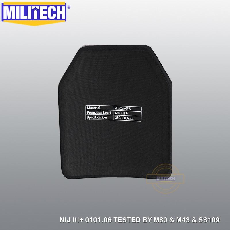 MILITECH 10X12 2 PC 알루미나 및 PE NIJ 0101.06 LEVEL III + - 보안 및 보호 - 사진 3