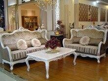Chesterfield sofá de tela antigua, 3 + 2 plazas chesterfield, estilo rústico salón sofá juego de muebles para el hogar