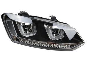 Image 2 - 2 stücke Auto styling fall für Polo Scheinwerfer 2011 2012 2013 2014 2015 jahr LED rücklicht für polo DRL Objektiv doppel Strahl HID Xenon