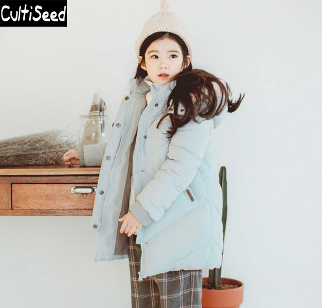 Girls Winter Coat 2017 Children Thicken Warm Fur Collar Detachable Cap Parkas Outerwear Jacket Kids Casual Overcoat Parkas korean baby girls parkas 2017 winter children clothing thick outerwear casual coats kids clothes thicken cotton padded warm coat
