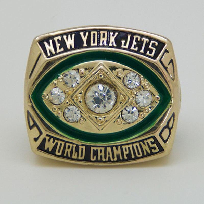 Frete grátis esporte Anel 1968 New York Jets Campeonato Anel Réplica anel  para o homem de negócios presente big Tamanho do anel 11 4033b4e1dfd08