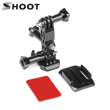 SHOOT Curved Base and Tripod Screw Helmet Mount For Gopro Hero 5 6 3 4 Session