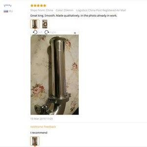"""Image 4 - Megiron OD Tubo de bobina sanitaria, 2 """"y 51MM, con brida de virola de 64MM + Moonshine + Accesorios de tubería de Tres abrazaderas, longitud de 4""""/6 """"/8""""/12 """"/18""""/24"""""""