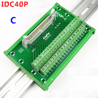 IDC40P male socket to 40P terminal block breakout board adapter PLC Relay terminal station DIN Rail Type