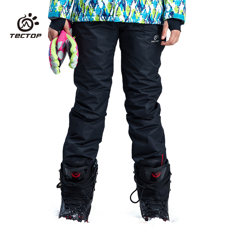 tectop men/women -35 degree snow pants plus size elastic trousers winter skating pants skiing outdoor keep warm ski pants 6909