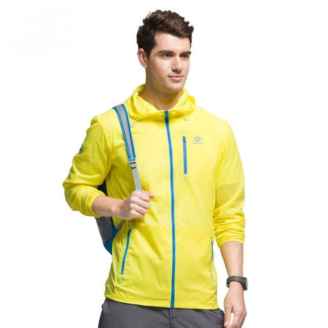 Spring Summer Outdoor Sport Sun Protection Breathable Men Skin Jackets Man Lightweight Thin Quick Dry Beach Hiking Coats S-XXL
