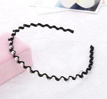 1PC Fashion Headband Women Crystal Rhinestone Pearl Wave Head Piece Hairband Wedding Party Ladies Hair Band Accessories