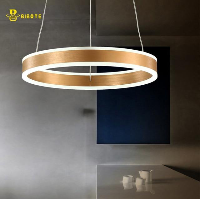 Luxury Modern Chandelier Led Circle Ring Light For Living Room Acrylic Re Lighting Rose Gold