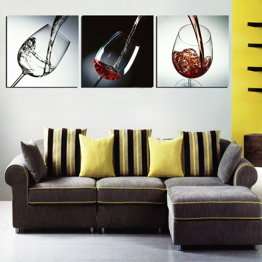 Modern Wall Decor Painting Dinning Room Decorative Pictures Red Wine Glass  Canvas Art Bar Decoration 3 Pieces/set Not Framed In Painting U0026 Calligraphy  From ...