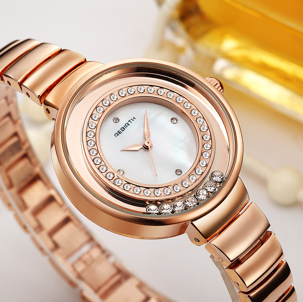 Women's Watches Ultra Thin Silver Gold Mesh Bracelet Ladies Watch Luxury Pearl Diamond Female Wrist Watch Dress Minimalist Clock