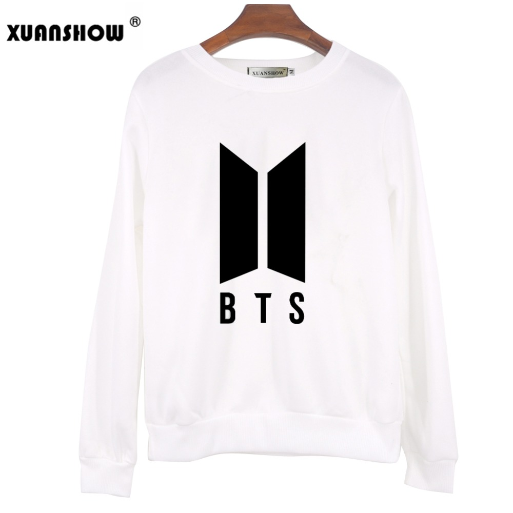 XUANSHOW 2018 Autumn Winter Sweatshirt Clothes BTS Bangtan Boys Kpop Love Yourself Answer Letters Printed Pullover Tops Moletom  4
