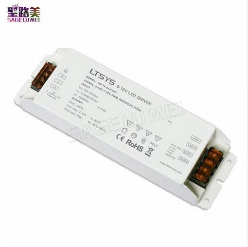 LTECH CV Led Driver AD-75-24-F1M1 AC100V - 240V input DC 24V 3A 75W output PUSH DIM 0/1-10V dimming led driver for LED lighting цена и фото