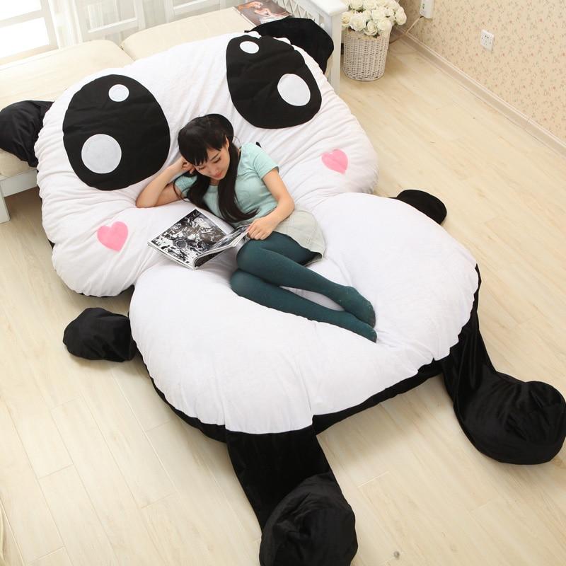 Large Chinese Cartoon Stuffed Plush Animals Panda Style Decorative Pillows Decorate Big Cushion Sleeping Pad Child Bed Mattress