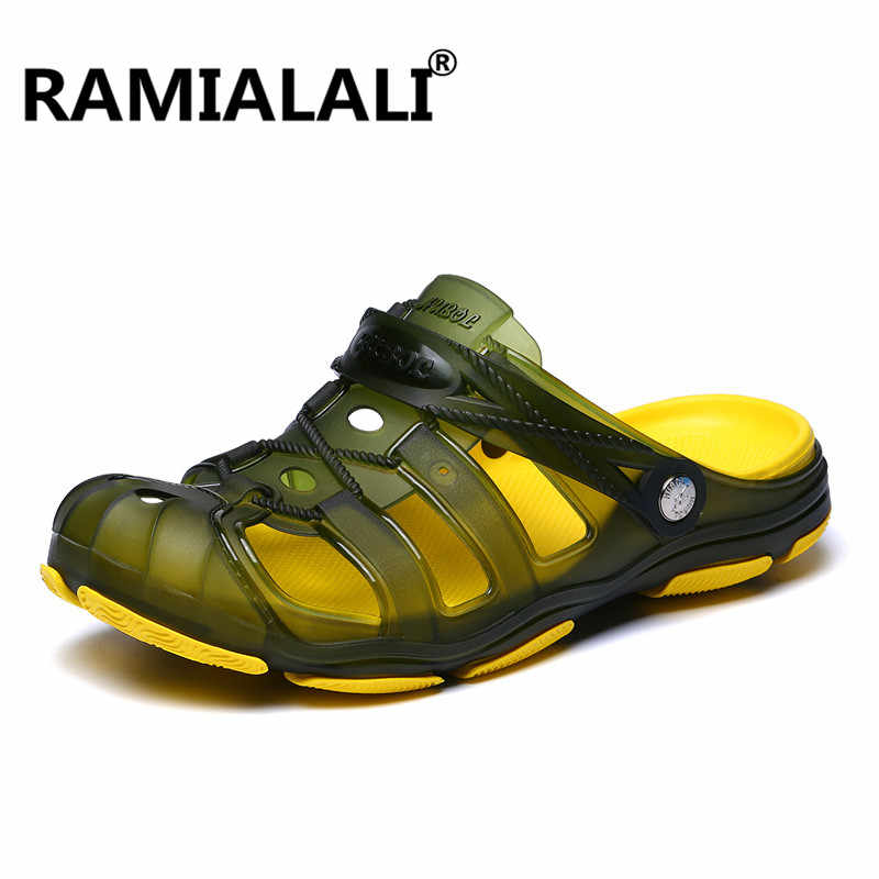 1a6d3afac981 ... Ramialali Men Sandals Summer Hollow Out Breathable Beach Slippers 2019  Casual Outdoor Slippers Water Shoes Zapatillas ...
