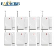 จัดส่งฟรี Wireless Home Burglar Security ALARM System หน้าต่างประตูแม่เหล็ก 433MHz 8pcs ALARM ระบบ