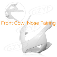 Unpainted Motorcycle Upper Front Fairing Cowl Nose Fits for 2004 2005 CBR 1000RR CBR1000RR 04 05, ABS Plastic